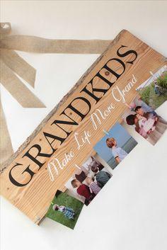 DIY: Weihnachtsgeschenk für Großeltern oder Paten / Fotogeschenk / Pinnwand #weihnachtsgeschenke #diy #foto