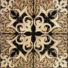 Patterson Collection - Crest shown in Grey body with Butter, Cream and Black.     Like the tile