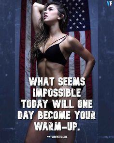Here are 41 motivational fitness quotes for women: Fitness Quotes for Women: Today, fitness has been an ongoing trend, especially to Americans. Fitness Quotes Women, Motivational Quotes For Women, Fitness Motivation Quotes, Fitness Goals, Fitness Tips, Gym Workout Videos, Workout Quotes, Back Fat Workout, Workout Exercises