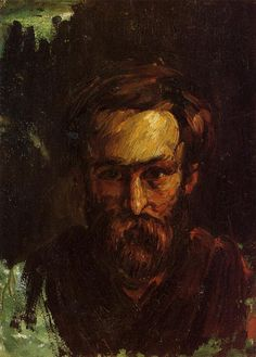 Portrait of a Man - Paul Cezanne #cezanne #paintings #art