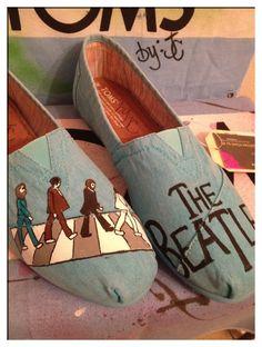 The Beatles Custom Toms Shoes. $110.00, via Etsy.
