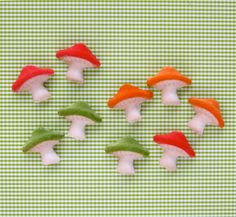 Mushroom Edible Sugar Decorations for Cupcake and Cake Decorating (24)