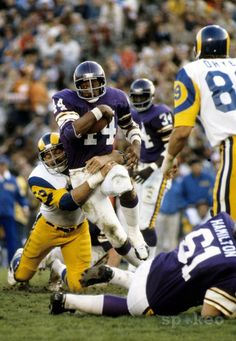Chuck Foreman 44 rb Vikings 73-79  5x Pro Bowl 4x All-Pro   73 NFL Offensive Rookie of the Year