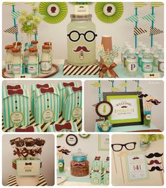 "modern baby boy bow tie shower ideas | What about "" Carnival Theme Parties "" Like this one' .. in the ..."