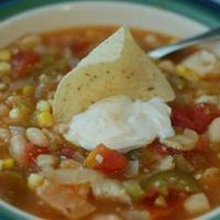White Bean Chicken Chili...This recipe is a great excuse to use some of our canned tomatoes from the summer and it also has one of my new found favorite ingredients... Tomatillos!
