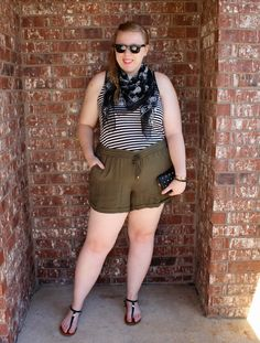 Did you miss yesterday's #fatshionfaceoff post? You should check it out on www.diyfatshion.com. :D bloggers, psbloggers, fatshion, fat fashion, plus size, plus size blogger, ootd, outfit of the day, plus size fashion, plus size outfit, diyfatshion, plus size shorts,