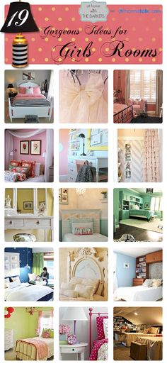 DIY:: 19 Gorgeous Budget Ideas for Girls Rooms ! Full of so many Home DIY ideas & Tutorials ! (Hometalk Curated Board)love that last 1 Home Bedroom, Girls Bedroom, Bedroom Decor, Bedroom Ideas, My New Room, My Room, Kids Decor, Diy Home Decor, Childrens Room