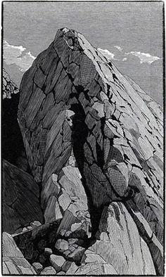 Whitney Portal ~ Wood Engraving ~ Richard Wagener