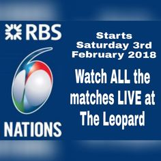 YES!! The #RBS #SixNations starts on Saturday 3rd February & you can watch ALL the #games at #theleopardtutbury PLUS we are bringing back our #burger & #beer #offer during each match too! #rugby #sixnations #England #Ireland #Scotland #Wales #Italy #France