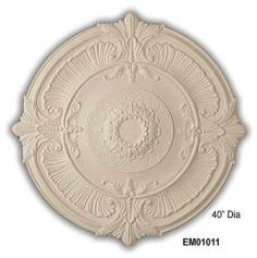 Fleur de Lis 40-inch Medallion - Overstock™ Shopping - Big Discounts on Molding