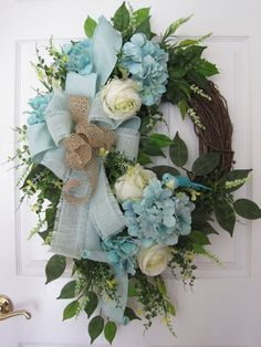 SPRING BREEZE Mother's Day Wreath Summer Wreath by FunFlorals