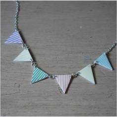 Image of Pastel Stripes Bunting Necklace    http://sawyerandscout.bigcartel.com/product/pastel-stripes-bunting-necklace