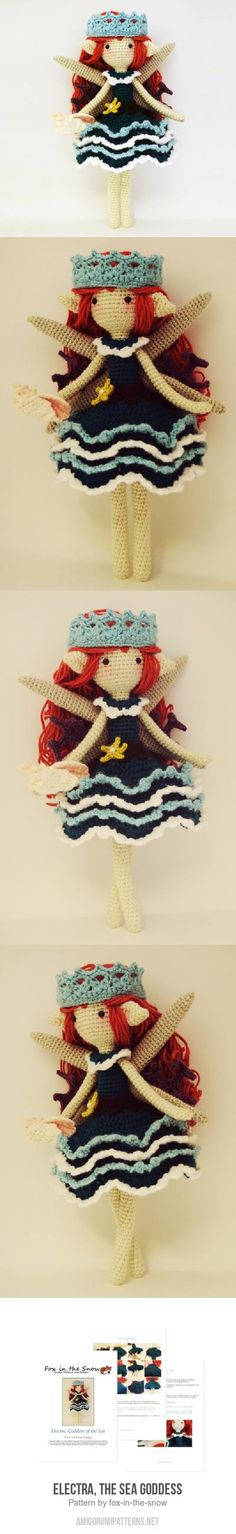Electra, the Sea Goddess amigurumi pattern by Fox in the snow designs