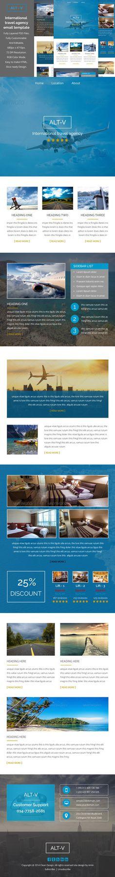 ALT-V travel agency email template