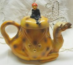 Antique Camel Teapot Vintage Japan Rare by nanascottagehouse, $99.99