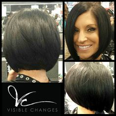 Visible Changes Hair Salons offer high quality services from well-trained stylists. Cute Haircuts, Cute Hairstyles For Short Hair, Bob Hairstyles, Short Hair Styles, Luscious Hair, Hair Hacks, Hair Tips, Hair Ideas, Inverted Bob