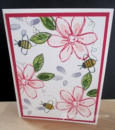 Stamp & Scrap with Frenchie: Video Stampin' Up! Garden in Bloom