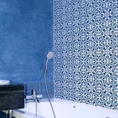 Augusta Tile Stencil  Size: Large  Easy Way to Improve Wall
