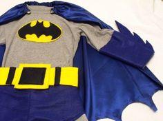 Home sewn with inexpensive supplies...Superhero costume.