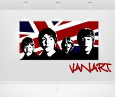 "QUADRO Pop Art ""Beatles"" DIPINTO A MANO 120 x 60 cm"