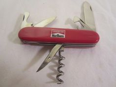 Marlboro Victorinox Swiss Army Adventure Team 6 Tool Blade Knife with Box  #Victorinox #SwissArmyknife #marlboro