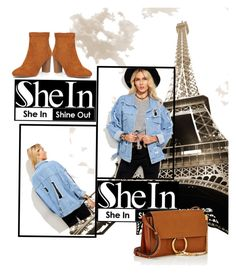 """Blue Jacket from Shein"" by anchesky ❤ liked on Polyvore featuring WithChic, Chloé and Dorothy Perkins"