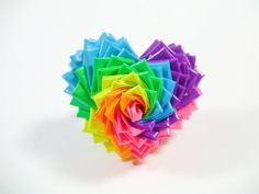 Rainbow Duct Tape Heart Ring by QuietMischief on Etsy, $20.00