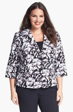 Sejour Stretch Cotton Jacket (Plus Size) available at #Nordstrom