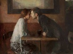 "existentialwilderness: ""Stollen Kiss - Ron Hicks American painter Impressionism "" This is probably one of my new favorite paintings. "" I have been looking for this painting for so long "" "" Art And Illustration, Inspiration Art, Art Inspo, Art Amour, Tableaux Vivants, Art Of Love, Art Design, Beautiful Paintings, Romantic Paintings"