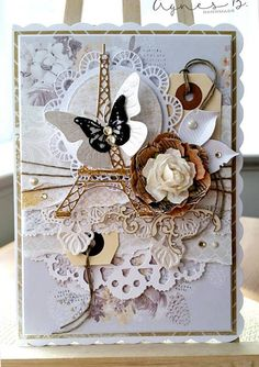 Beautiful card from Agnes B using products from www.scrapandcraft.co.uk