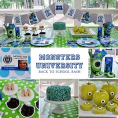 Dixie Delights: The Monsters Are Back To School Monsters University Party