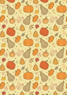 FREE printable Autumn Harvest Scrapbook Paper