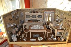 Antike Puppenküche - originale Tapeten mit Holländermotiv - 30er Jahre | eBay