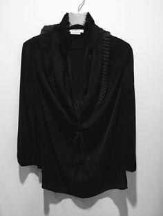 Black knife pleat blouse with 3/4 sleeves | Givenchy | Degli Effetti, Roma