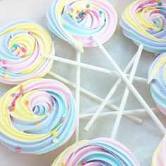 rainbow meringue