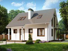 Casa cu mansarda si arhitectura clasica cu suprafata utila de 100 mp Thing 1, Design Case, Natural Materials, Contemporary, Modern, House Plans, Pergola, Shed, Outdoor Structures