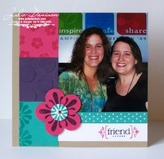 Julie's Stamping Spot -- Stampin' Up! Project Ideas Posted Daily: Spring Into Stamping Make & Takes: 6x6 Friend Page...