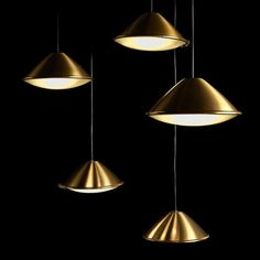 Armonica ceiling lamp Led gold