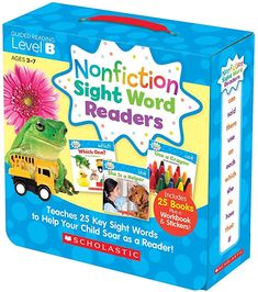 Nonfiction Sight Word Readers Parent Pack Level B: Teaches 25 key Sight Words to Help Your Child Soar as a Reader! (Nonfiction Sight Word Readers Parent Packs) by Liza Charlesworth - Scholastic Teaching Resources (Teaching Strategies) Reading Resources, Book Activities, Teacher Resources, Sight Word Readers, Sight Words, Guided Reading Levels, Reading Skills, Reading Books, Help Teaching