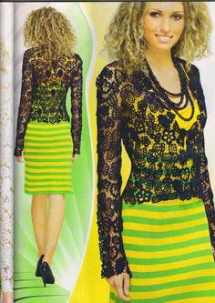 Crochet Patterns Book Top Skirt Dress Cardigan Collar Irish Lace Spec Duplet 8 in Crafts, Needlecrafts & Yarn, Crocheting & Knitting Lace Jacket, Dress With Cardigan, Irish Lace, Irish Crochet, Pattern Books, Crochet Clothes, Dress Skirt, Nice Dresses, Style Me