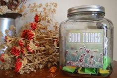 Good Things Jar ~ Practice Gratitude with Your Family ~ Free, Printable Labels ~ Start a 2015 Good Things Jar