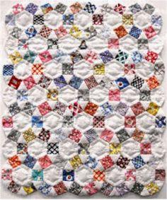 Aunt Grace, English Paper Pieced Miniature quilt