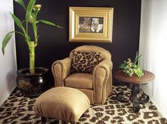 ModlinAve_July12_08521 | Pinterest | Leopard chair, Black leather ...