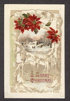 Gorgeous Vintage Christmas Card