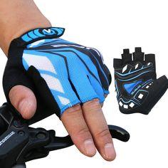 Men Women Fingerless Gloves Lycra Honeycomb Cycling Bicycle Outdoor Sport Antiskid Mittens