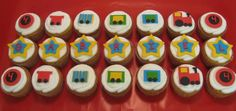 TRAIN CUPCAKES | Train Cupcakes for Gabriel's 4th Birthday Party at School photo ...