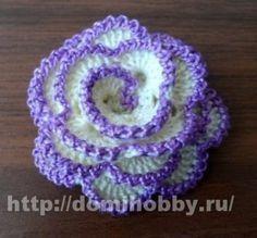 Delicadezas en crochet Gabriela: Rosa paso a paso y esquema en ganchillo