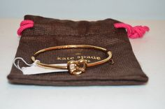 Kate Spade New York Gold Novelty Pretzel Bracelet-Brand New w/ Tags #KateSpade #MagneticClaspwithPretzel