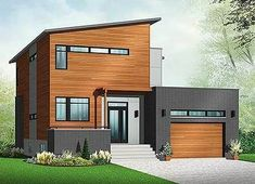 W3456 V1 Striking 3 to 4 bedroom contemporary house plan with