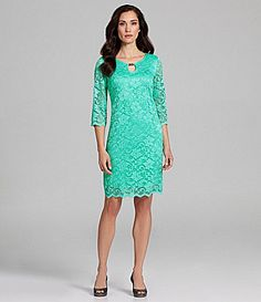 IN Studio Lace Sheath Dress #Dillards